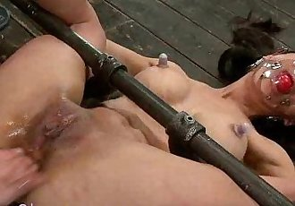 Gagged bound Asian babe tormented - 8 min