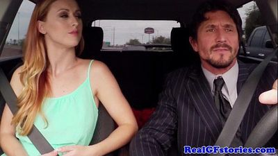 Cheating redhead wife in stockings swallows - 8 min HD