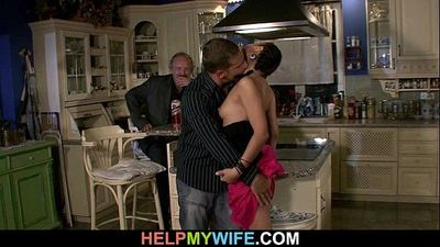 Bitchy wife is fucked on the table - 6 min