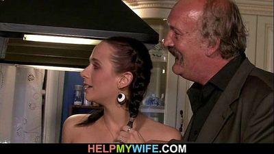 viejo mi marido necesidades ayuda a :Bang: su jóvenes esposa - 6 min