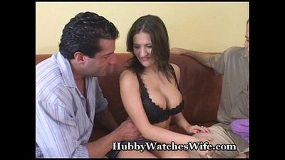 Hubby Watches Wife Have Orgasm With Stud - 5 min
