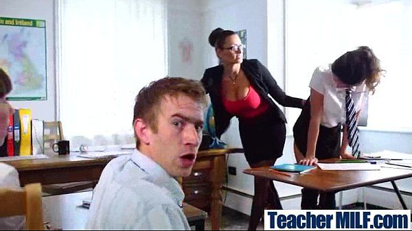 Wild Teacher (sensual jane) With big Juggs Bang Student In Class video-29