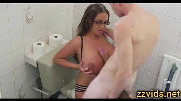 English big tits whore Emma But toilet fuck