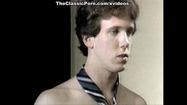 Ginger Lynn Allen, Tiffany Blake, Tom Byron in classic porn clip