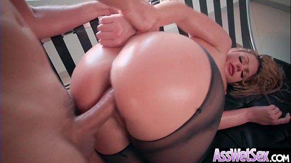 Anal Sex Tape With Hot Oiled Sexy Huge Butt Girl (Brooklyn Chase) video-12