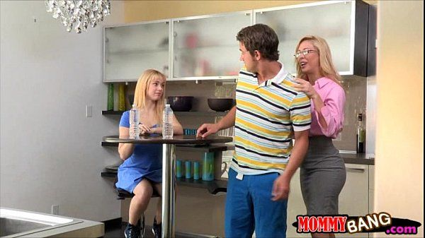 Mature Cherie Deville fucking with young couple on the couch