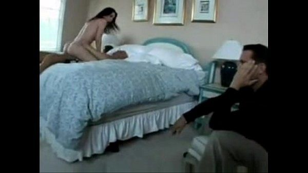 Husband catches wife and watches her get fucked