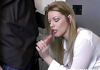 Hot British Boss Milf Holly Kiss Fucks Young Employee! Hardcore Fucking & Deepthroat Action 12 min HD+