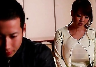 Mature Japanese Hitomi Tanaka titty fuck 8 min HD