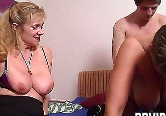 Mature german whores fuck a stud 9 min HD