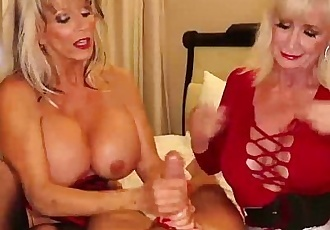 over-Two grannies jerking you offHD