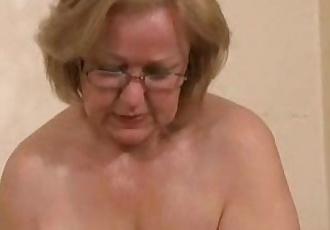 Gorgeous mature slut jerking young cock. Amateur older - 1 min 10 sec