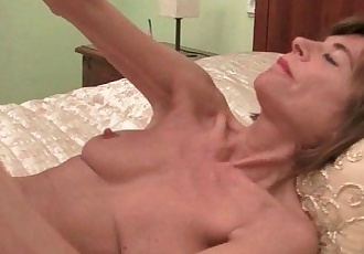 Skinny grannies Bossy Rider and Maria stripping offHD