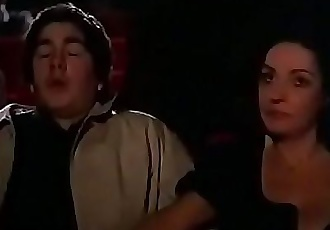 Milf jerks off young guy at the theater 1 min 40 sec