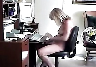 My mom enjoying herself caught by hidden cam 18 sec