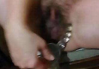 Bbw fat russian mom anal dildo 3 min