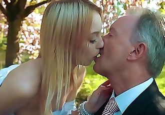 Young blonde moaning fucking an old man she swallows his cumshot 10 min HD+
