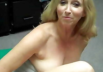 Grandma fingers herself then FREAKS OUT at Porn Casting 2 min HD