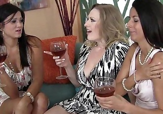 Three MILFs Sharing A Fat CockHD
