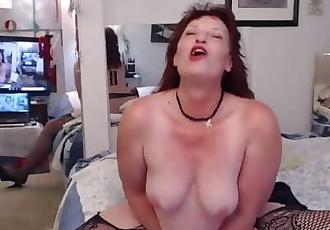 V202 Smokin hot redhead DawnSkye smokes and cums for you