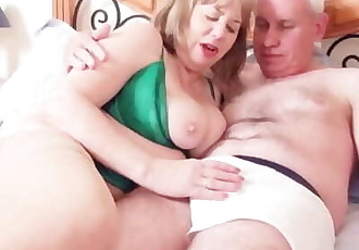 Dirty Mature Trisha Caught Playing on the Bed gets a Good Fucking