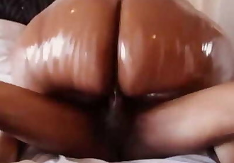African sbbw squeezing the nut out.