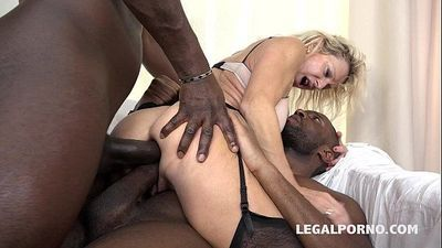 Granny whore Marina Beaulieu fucked like a bitch by 2 Black cocks - 1 min 0 sec HD