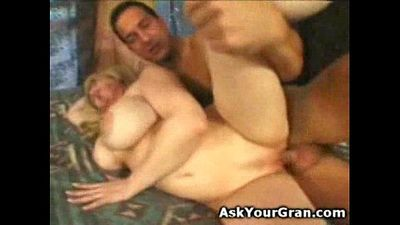 big breatsed granny gets her old pussy fucked till I spermed her twat - 36 sec
