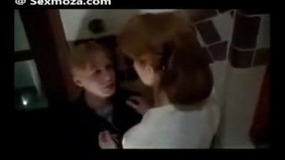 StepMom and son kissing in school - 46 sec