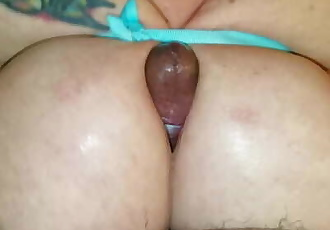 Busty Slut Ties Her Sexy 38DD Titties Together To Make Cock Cum