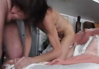mature skinny blowjob