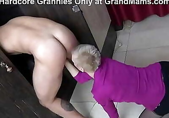 CFNM Hot Granny Rimming in The Locker Room 5 min 720p