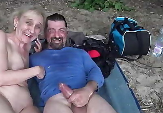 brutal outdoor sex for 85 years old mom 12 min