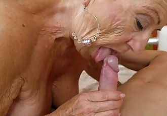 Old granny fucks the young mechanicLusty GrandmasHD