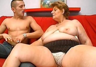 Mature fat granny hungry skin head young man sex - 4 min