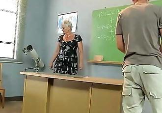 Pervert student fucks mature teacher 6 min 1080p