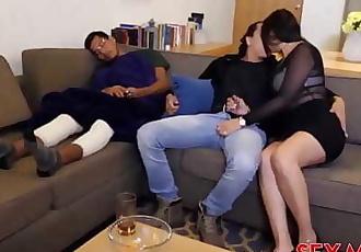 I FUCKED MY SEXY & HORNY FRIENDS BUSTY MOM WHILE HES SLEEPING 2 min 1080p