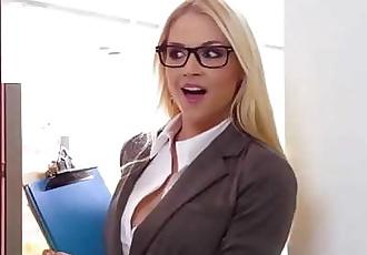 Big Tits at Work Her First Big Sale scene starring Sarah Vandella Keiran Lee and Toni Ribas 8 min