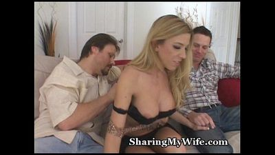 Swinger Babe Offered By Hubby - 5 min