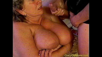 Crazy old mom fucked hard sex - 5 min