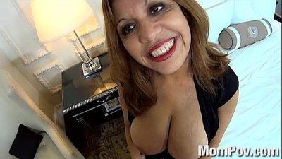 HUGE natural tits latina MILF - 8 min