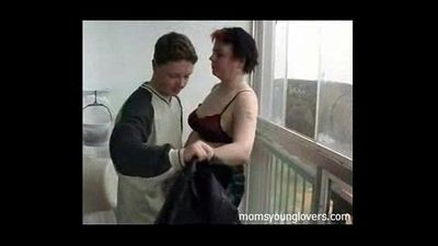 Russian Mom And Son on Balcony - 3 min