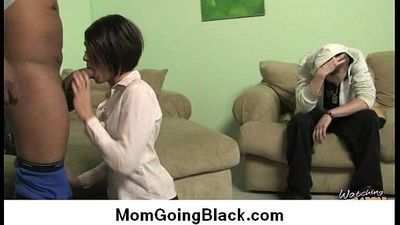 Interracial cougar porn from Watching My Mom Go Black 5 - 5 min