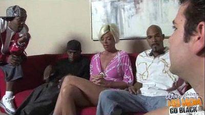 Mom Gangbanged by Blacks! - 3 min
