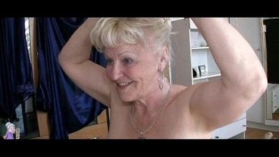 Two Grannies and man have sex - 5 min