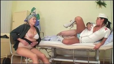 Grandpa fucks nurse while grandma masturbates - 6 min