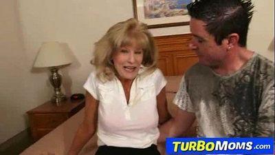 Skinny attractive grandma Cam cum on tits after sex - 6 min