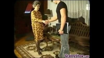 Granny Having Sex With A Young Guy - 8 min