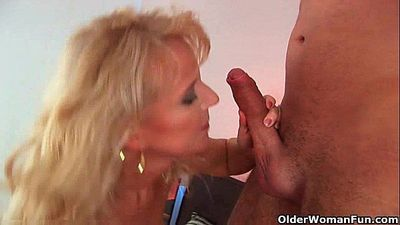 Lustful granny gets fucked hard - 5 min HD