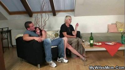 Horny granny seduces son in law - 6 min